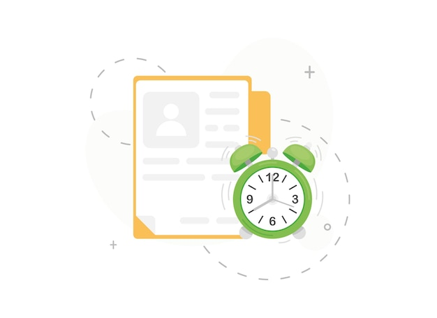 Time to apply document for work or university