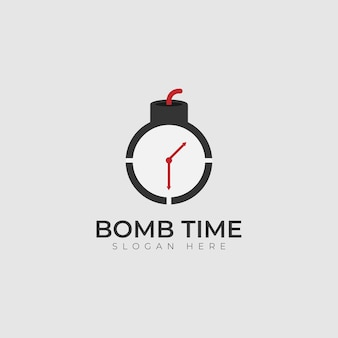 Бомба замедленного действия логотип вектор значок иллюстрации дизайн шаблона