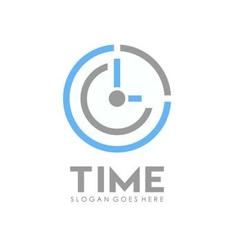 Time clock logo design template