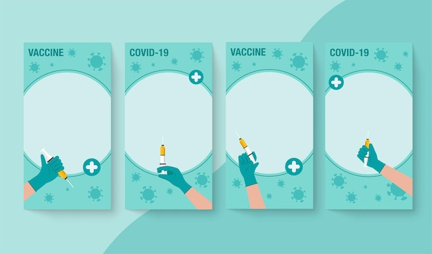 Time to coronavirus vaccination concept. public health promotion banner for coronavirus vaccination for web or documents