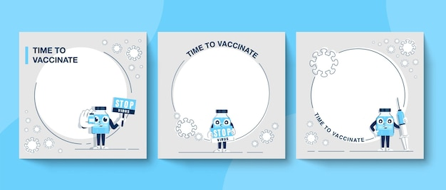 Time to coronavirus vaccination concept. public relations campaign banner to educate about the coronavirus