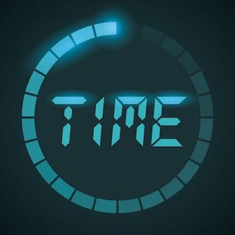 Время дизайн, векторные иллюстрации.