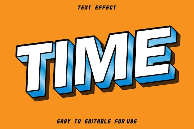 Time editable text effect emboss modern style