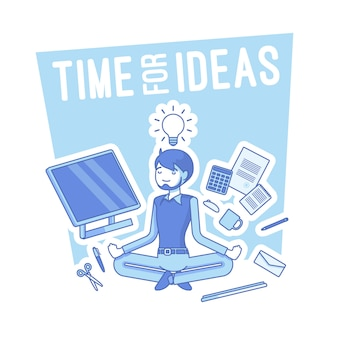 Time for ideas illustration