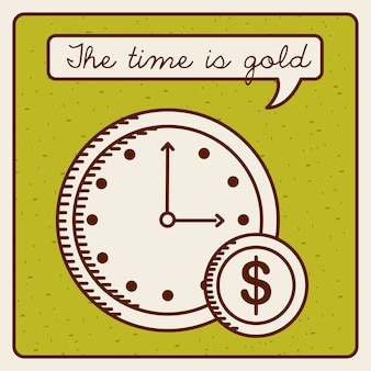Time is money design, vector illustration eps10 graphic