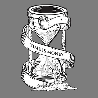 Time is money hourglass