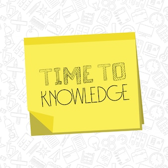 Time to knowledge typography design vector