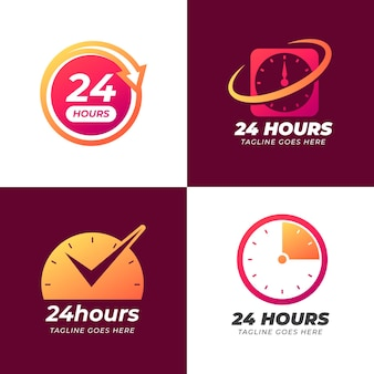 Time logo template collection