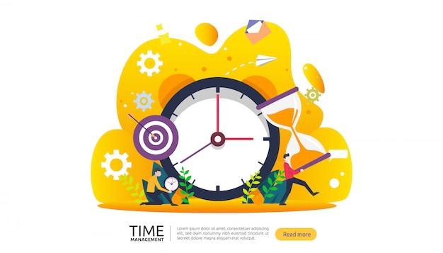 Тайм-менеджмент и концепция промедления. планирование и стратегия для бизнес-баннера