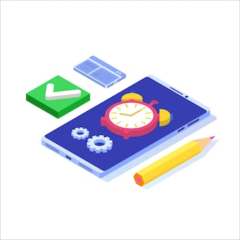Time management cncept,  business scheduling app.