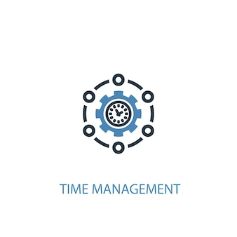 Time management concept 2 colored icon. simple blue element illustration. time management concept symbol design. can be used for web and mobile ui/ux