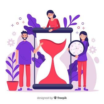 방문 페이지의 시간 관리 개념