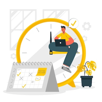 Time management concept illustration