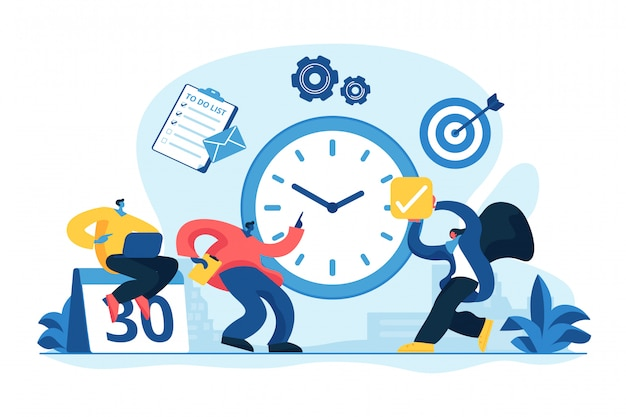 Time management concept vector illustration