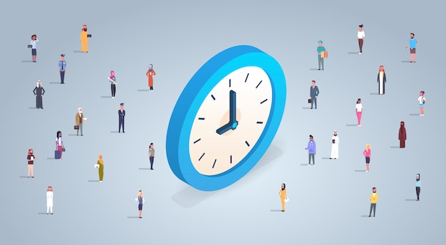 Time management concept with business people