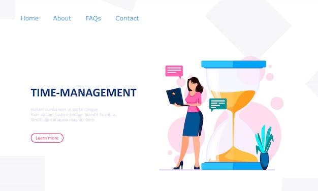 Time management concept,