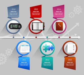 時間管理のインフォグラフィック
