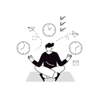 時間管理は成功への鍵です事業計画と結果