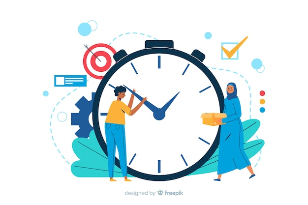 Time management landing page illustration