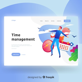 Time management landing page