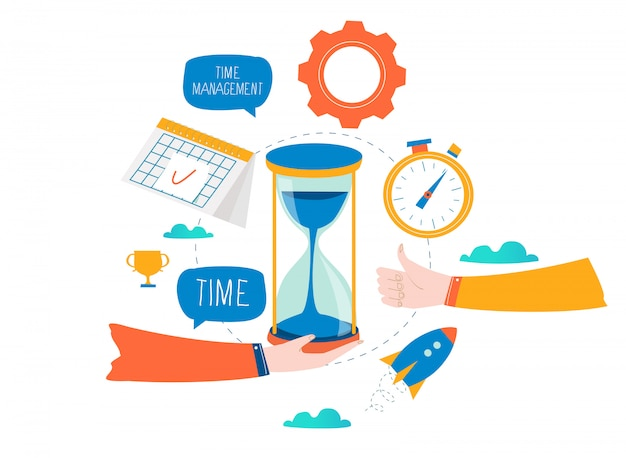 Time management, planning events, business organization, optimization