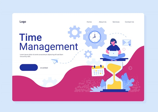 Time management planning, organization and control for effiecient succesful and profitable business. concept of work time management.
