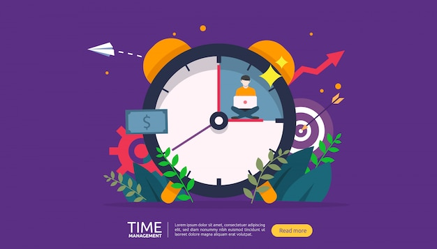 Time management and procrastination concept. planning and strategy for business banner