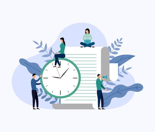Time management, schedule concept