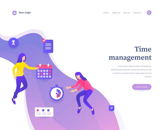 Time management web template