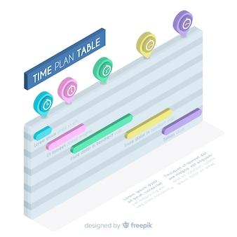 Time plan table design