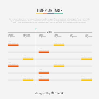 Time plan table