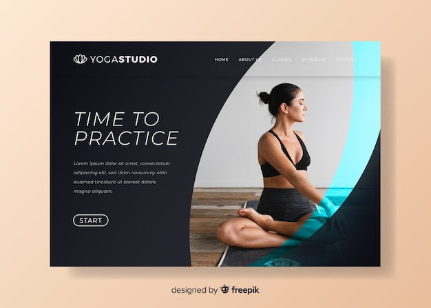 Time to practice sport landing page