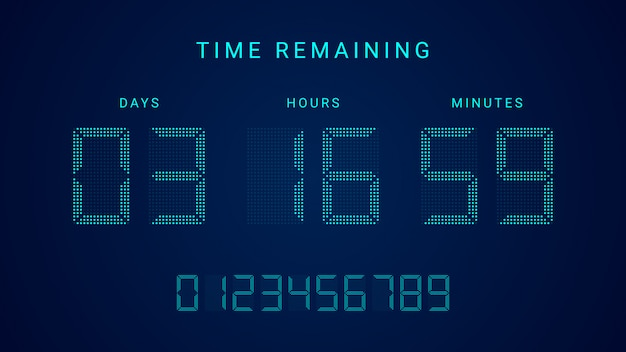 Time remaining countdown timer