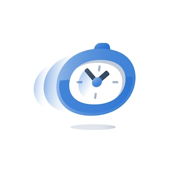 Time running, stopwatch in motion illustration