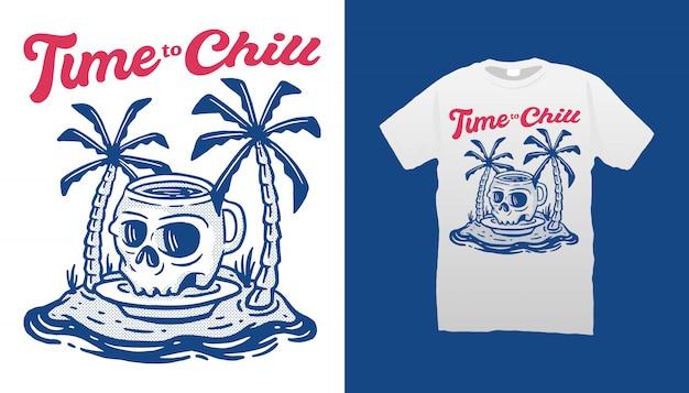 Время охлаждать дизайн футболки