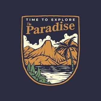 파라다이스 배지 디자인을 탐색 할 시간