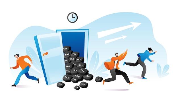 세금 납부 시간, 사람들은 재정 문제에서 탈출