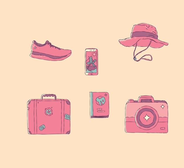 ハンドスタイルを旅行する時間。図