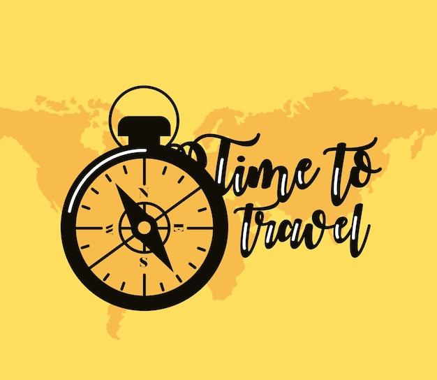 Время путешествовать надписи с компасом