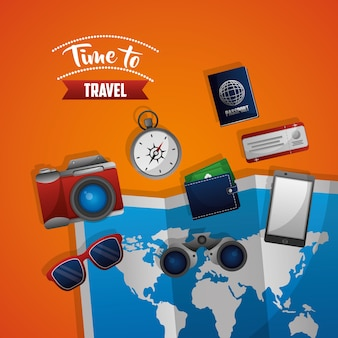 Time to travel map