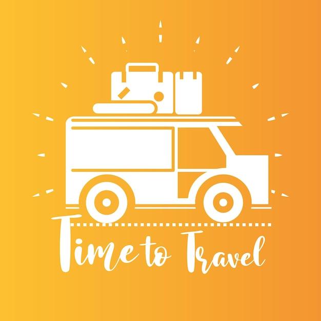 旅行のポスターを旅行する時間