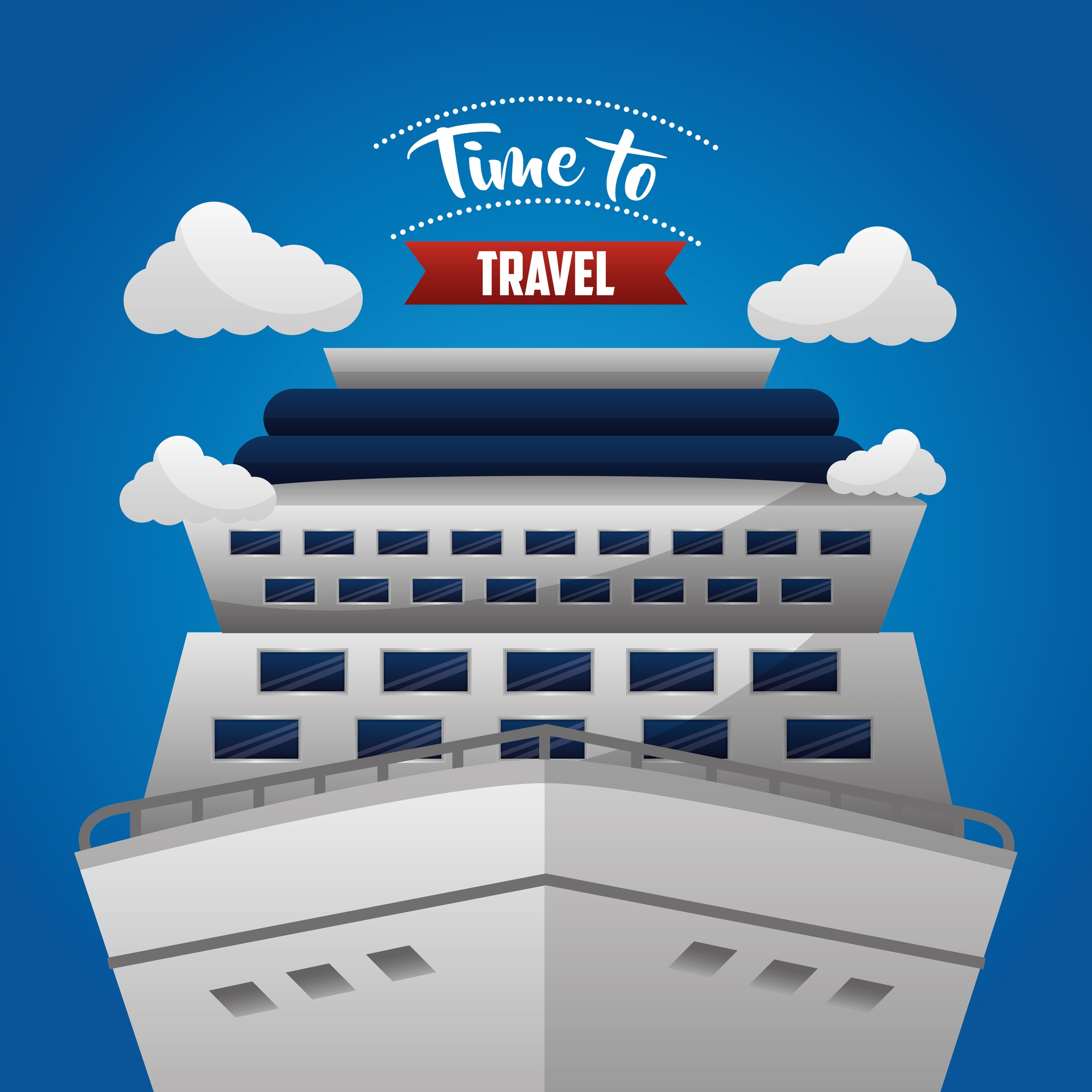 Time to travel sky clouds cruise trip sea