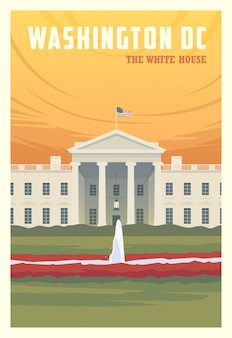 Time to travel. around the world. quality  poster. the white house.
