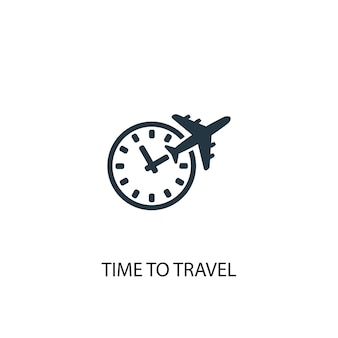 Time to travel icon. simple element illustration. time to travel concept symbol design. can be used for web and mobile.