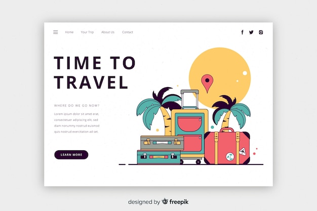 Time to travel landing page