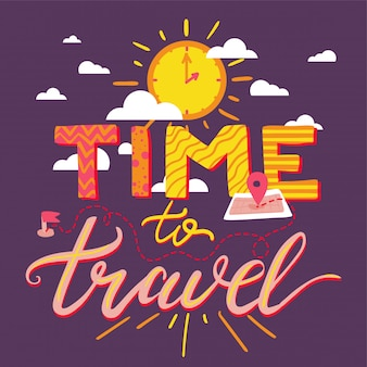 Time to travel lettering