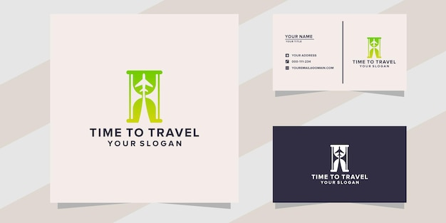 Time to travel logo template