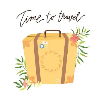Time to travel. retro suitcase