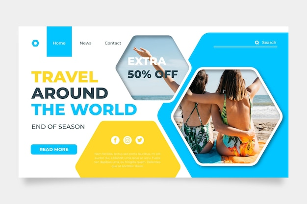 Time to travel sale landing page
