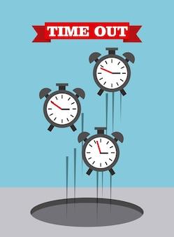 Time up design, vector illustration eps10 graphic